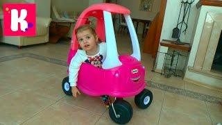 Большая розовая машинка / Собираем и устраиваем гонки с трактором