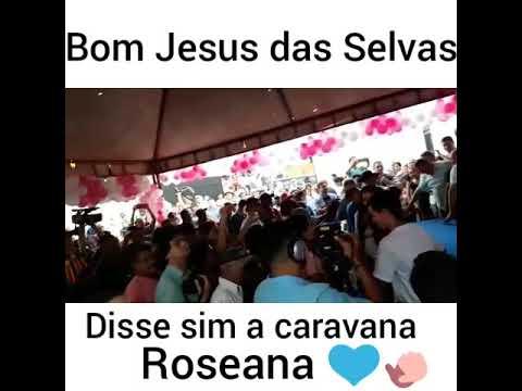 Roseana é recebida com festa em Bom Jesus das Selvas