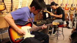 Yohei Nakamura and Taiki Tsuyama plays at Norman's Rare Guitars