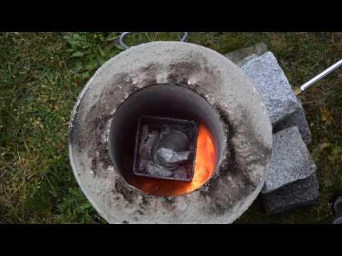 Schmelzofen selber bauen   Aluminium schmelzen   DIY