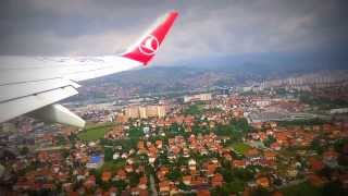 preview picture of video 'Take off Sarajevo International Airport with Turkish Airlines'