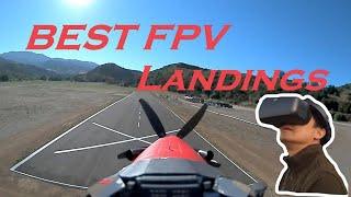 Best FPV Landings on Runway with Head-tracking