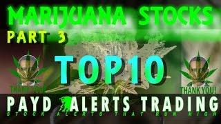 Marijuana Stocks Top 10 Feeding Frenzy Part 3