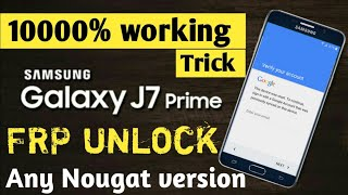 Samsung J7 Prime G610f Androad 8 0,7 1 Frp Bypass 2019