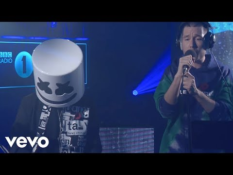 Marshmello featuring Bastille - Happier in the Live Lounge (видео)