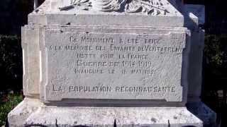 preview picture of video 'le monument aux morts de Ventabren'