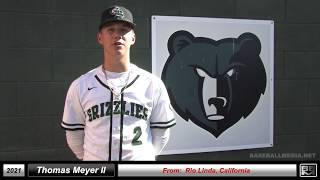 2021 Thomas Meyer - 6'1 - 16 Year Old Athletic Pitcher & Shortstop Baseball Skills Video