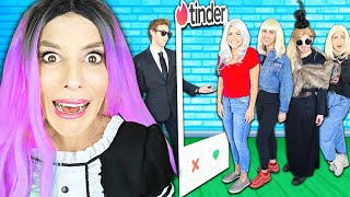 Tinder In Real Life Dating Game To Find New CRUSH! (Best Friend GMI Agent Missing) Rebecca Zamolo