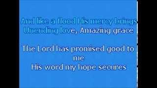 KARAOKE   Chris Tomlin - Amazing Grace (My Chains are Gone) ORIGINAL KEY