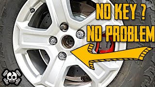 5 NEW Ways to Remove a Wheel Lock Without a Key