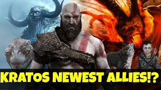 God of war ps4 - Kratos allies in God of war Ps4 Theory! Analyzing the Norse world creatures!