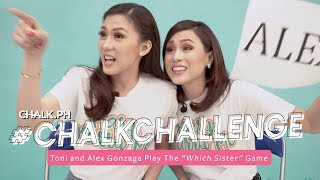 "#ChalkChallenge: Toni And Alex Gonzaga Play The ""Which Sister"" Game"