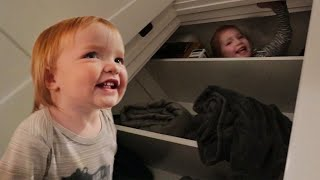 NiKO Learns HIDE N SEEK!! Adley shows baby brother our favorite family game and date night routine!