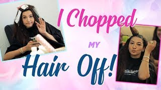 I CHOPPED MY HAIR OFF! | Hair transformation Vlog | Gauahar Khan