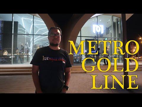 Doha Metro Rail Gold Line experience | Buhay OFW