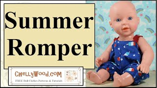 Free Doll Clothes Patterns: Summer Romper Pattern For Dolls