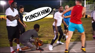 Trash Talkers Wanted To FIGHT! 5v5 Basketball At The Park!