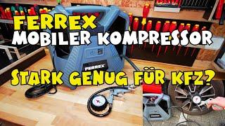 Aldi - FERREX Mobiler Kompressor 2021er Modell