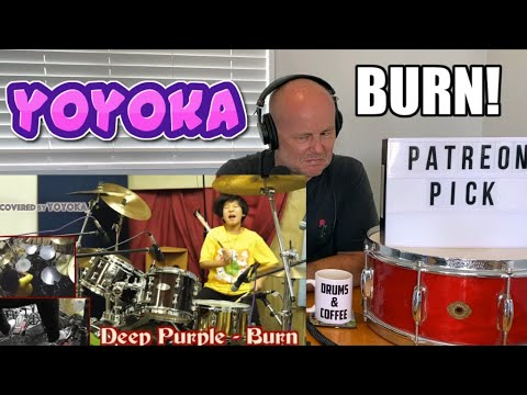 Drummer Reaction: YOYOKA   ''Burn'' - Deep Purple / Covered by Yoyoka Soma (2021 Reaction)
