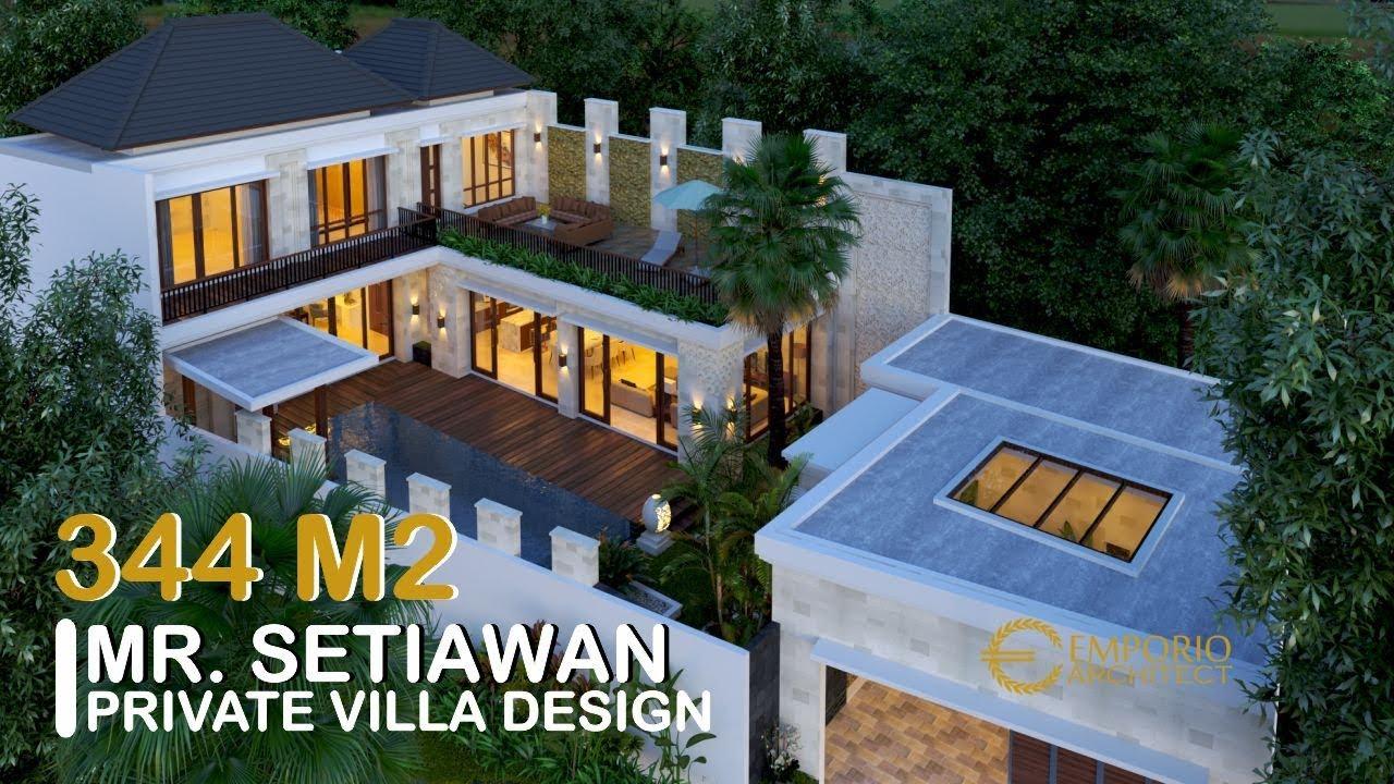 Video 3D Desain Rumah Villa Bali 2 Lantai Bapak Setiawan di Jimbaran, Badung, Bali