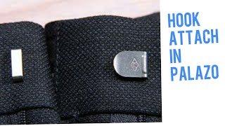 How to attach hook in palazo pant/पलाज़ो पैंट में हुक कैसे लगाए