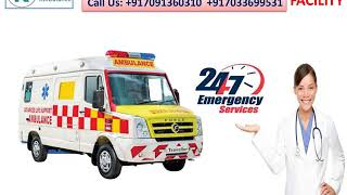 Take Ventilator Ambulance Service in Mangolpuri and Mayurvihar by King