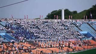 2013 夏の高校野球 福島大会 福島東 あまちゃん 全校応援