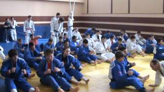 Training camp of a national team of Russia on judo till 21 year. Dmitrov 28.05.2013