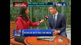 David Kohler's interview on CNBC - TV18 about Kohler Co's India plans