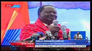 KTN Prime: Former Prime Minister Raila Odinga revives ignored land issues in the TJRC Report