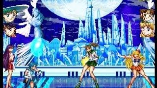 M.U.G.E.N Sailor Mercury & Sailor Mars VS Sailor Jupiter & Sailor Venus