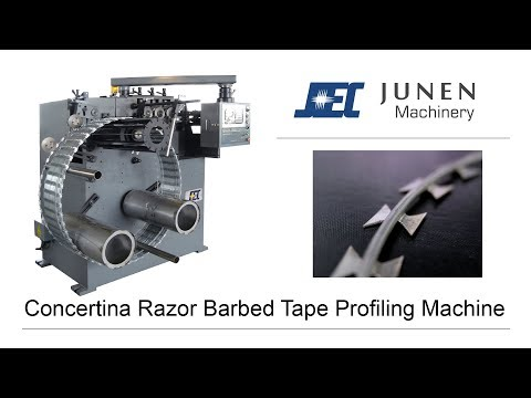 Concertina Razor Barbed Tape Profiling Machine - JUNEN