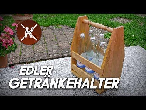 Endlich Schluss mit dem Flaschenchaos! Flaschenträger aus Holz selber bauen