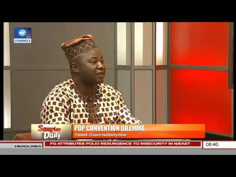 Taofik Gani, PDP Publicity Sec Lagos Speaks On PDP Convention Dilemma Pt 1