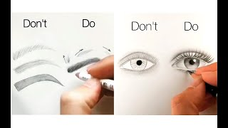 10 Easy Tips For Drawing Face, Eyes, Nose And Lips