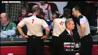 Tom Thibodeau goes NUTS after basket interference call