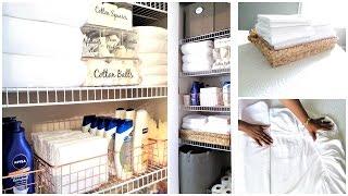 NEW! How To Organize A Small Linen Closet | Organization Tips & Tour