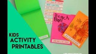 kids printable activity kit