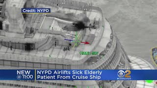 NYPD Airlifts Sick Elderly Patient From Cruise Ship