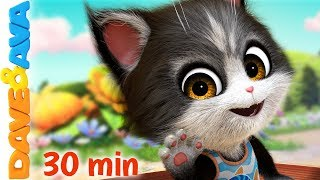 🐱Kids Songs | Nursery Rhymes and Baby Songs | Dave and Ava 🐱