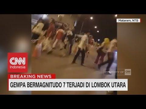 Detik-Detik Kepanikan Warga Lombok Saat Gempa Melanda