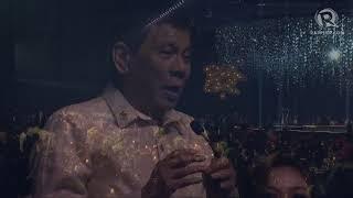WATCH: Duterte sings 'upon the orders' of Trump