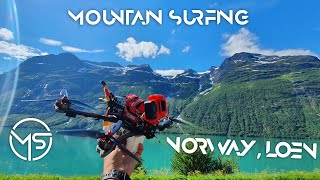 Norway, Loen, Lovatnet, glacier, Moutainsurfing ( 7inch Long range DJI FPV )