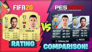 FIFA 20 vs PES 2020 Players RATING Comparison 🧐