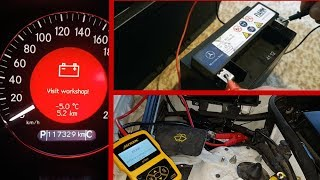How to test an additional battery SBC Systems for Mercedes W211 / Battery charge test W211