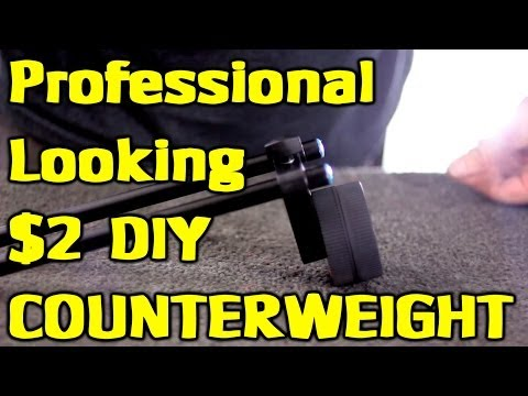 $2 Do It Yourself Counterweight for DSLR Shoulder Rigs & the BEST Subscribe video on YOUTUBE!