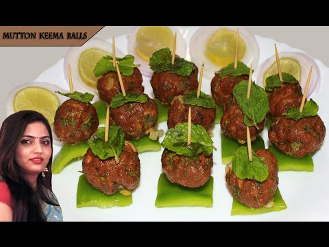 Mutton Keema Balls recipe | Meat balls baked recipe | starters dish  by manisha