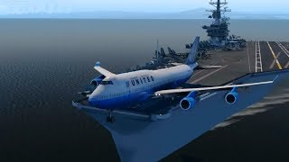 Big Planes Takeoff From an Aircraft Carrier! [XP11]