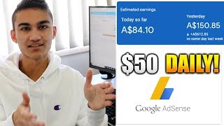 How To Make $50 PER DAY with Adsense 2019! - Easy Facebook Group Posting