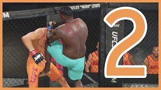 UFC 2 Career Mode Ep.2 - QUARTER FINAL FIGHT DAY! | UFC 2 Gameplay